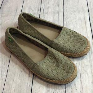 Sanuk Basket Case Woven Slip On Loafers